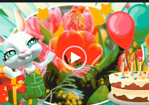 Видео открытки с днем рождения в марте