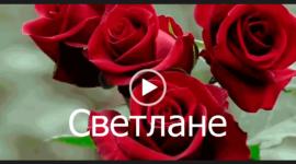 С днем рождения Светлана. Видео открытка с песней.