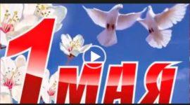 С 1 мая. День труда. Видео открытка. Скачать поздравление.