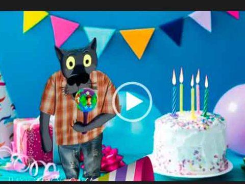 С днем рождения в июне от Волка. Скачать видео открытки на день рождения.