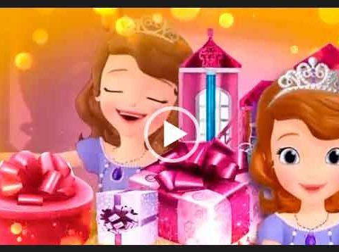 С днем рождения принцесса. Открытка для девочки. Скачать бесплатно поздравления для детей.