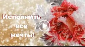С днем рождения в декабре. Красивая видео открытка.