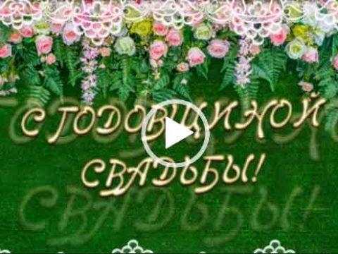 Поздравление с годовщиной свадьбы/ Скачать видео открытки.