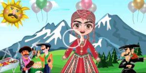 С Днем Рождения от кавказской женщины прикольное поздравление. Короткие видео поздравления на телефон.
