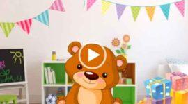 С днем рождения ребенку. Милое видео поздравление. Скачать бесплатно.
