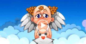 С днем рождения ангелочек. Видео поздравления на телефон. Скачать открытки бесплатно.