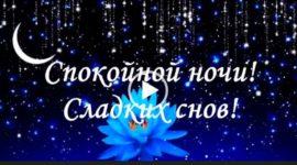 Спокойной ночи сладких снов. Красивое пожелание. Скачать.